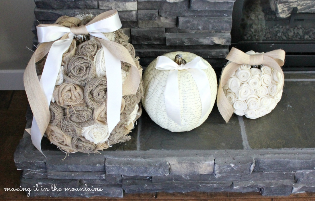Pick Your Pumpkin Challenge :: {Shabby-Chic Rustic Pumpkins}