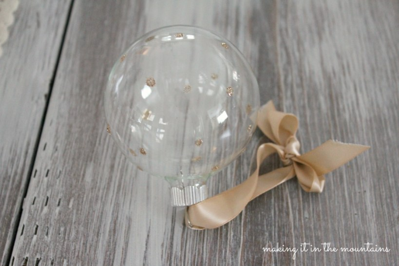Handmade Glittery Clear Glass Ornaments - making it in the mountains