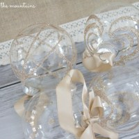 Handmade Glittery Clear Glass Ornaments - Monthly DIY Challenge