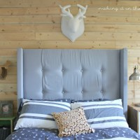 How to make your own DIY Upholstered Wingback Headboard