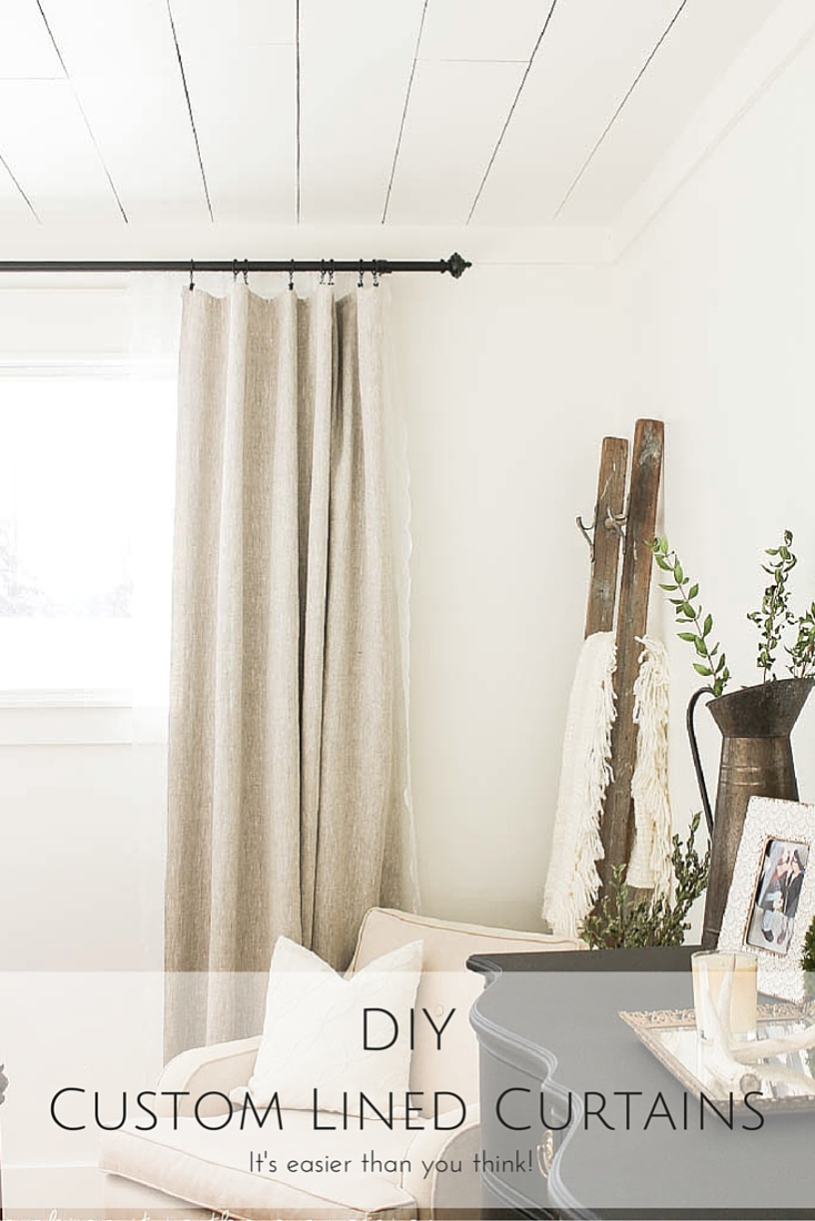 diy custom lined curtains it 39 s easier than you think making it in the mountainsmaking it in. Black Bedroom Furniture Sets. Home Design Ideas
