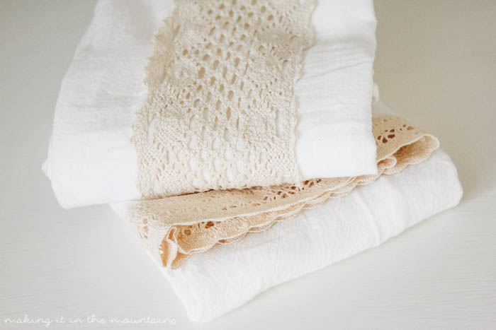 10 Minute Decorating: DIY Farmhouse Tea Towels