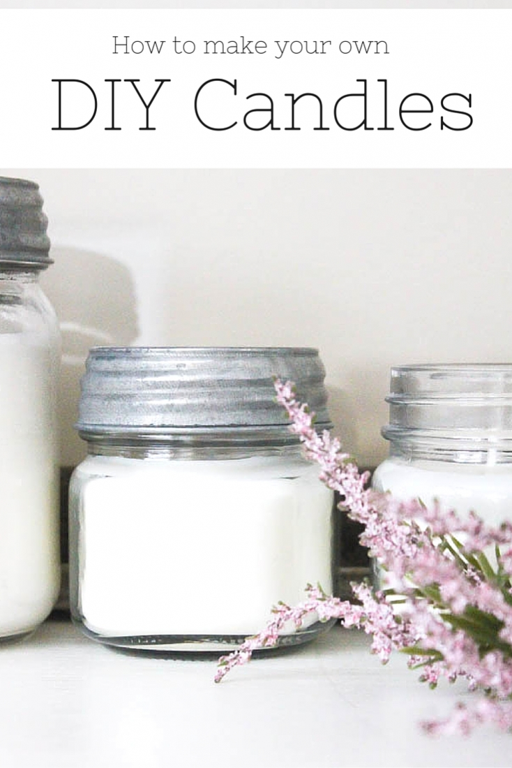 Why buy expensive candles when you can make them instead? You'll never believe how simple it is to create your own pretty DIY candles for just a fraction of the cost! | www.makingitinthemountains.com