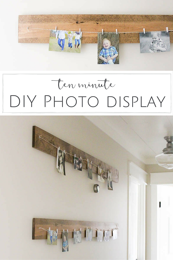 Country Mouse City Spouse Monday Mish Mash #28 Feature: Ten Minute DIY Photo Display @ Making it in the Mountains