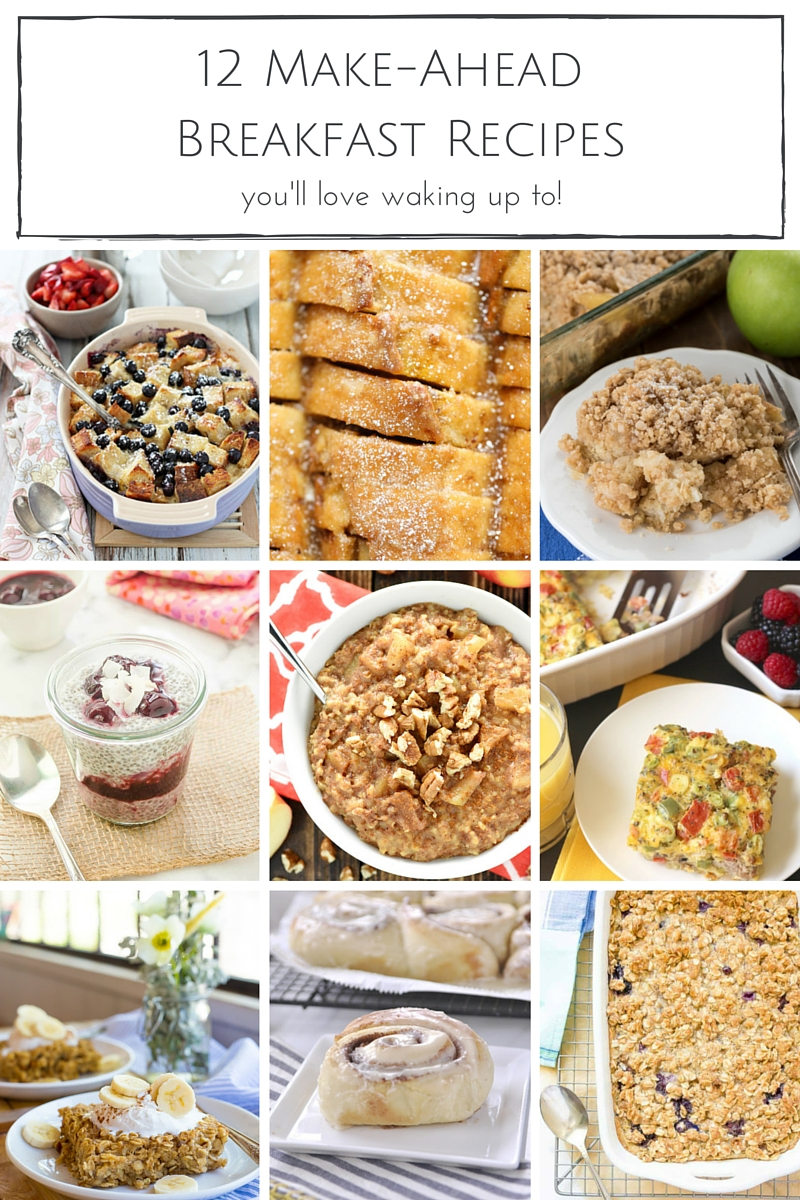 Country Mouse City Spouse Monday Mish Mash Link Party Feature: 12 Make-Ahead Breakfast Recipes @Making It In The Mountains