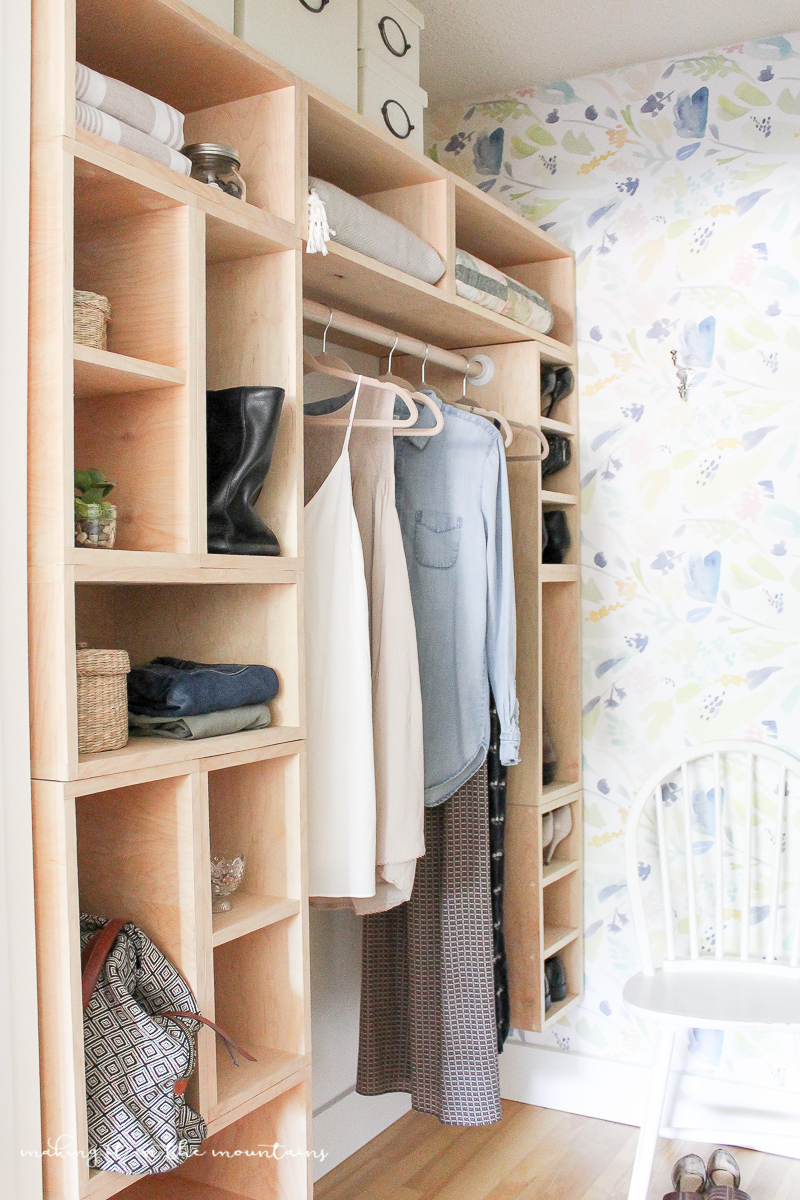 Diy master bedroom closet the reveal making it in the for Diy master closet ideas