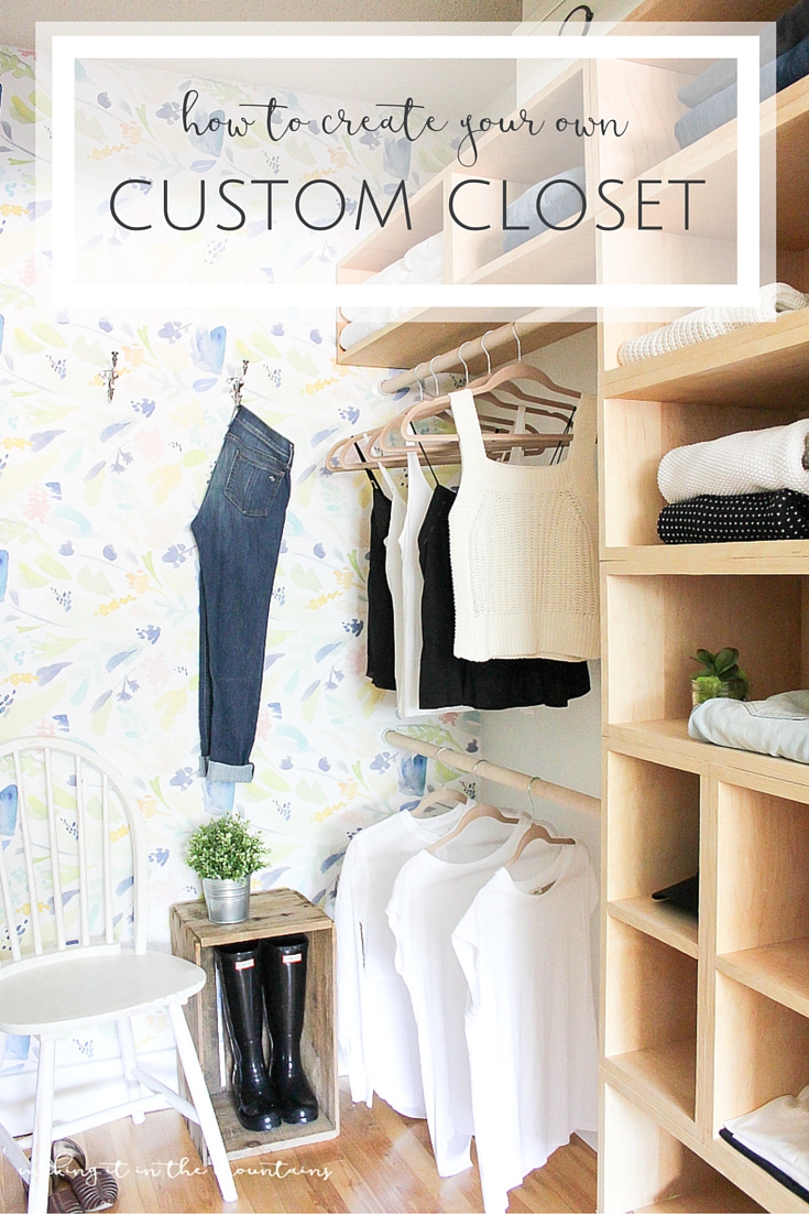 Country Mouse City Spouse Monday Mish Mash Link Party #26 Feature: How to Create Your Own Custom Closet at Making It In the Mountains