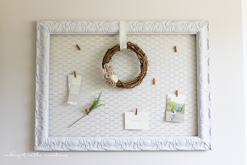 DIY Farmhouse Style Memo Board | www.makingitinthemountains.com