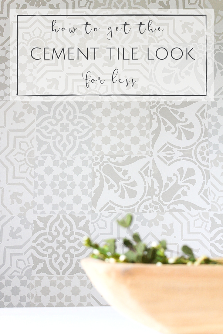 Country Mouse City Spouse Monday Mish Mash Link Party #23 Feature: How to Get the Cement Tile Look for Less from Making it in the Mountains