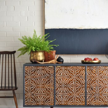 Tribal Sideboard Makeover