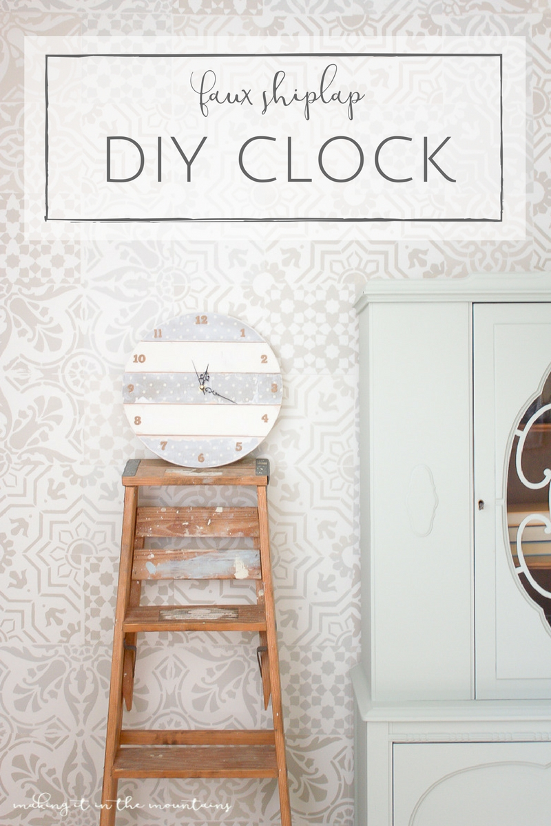 Faux Shiplap DIY Clock @ Making it in the Mountains