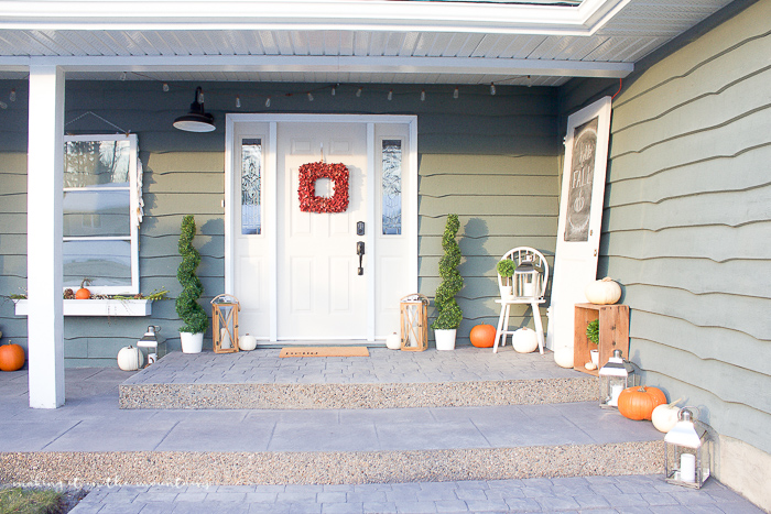 Cozy Farmhouse Style Fall Porch