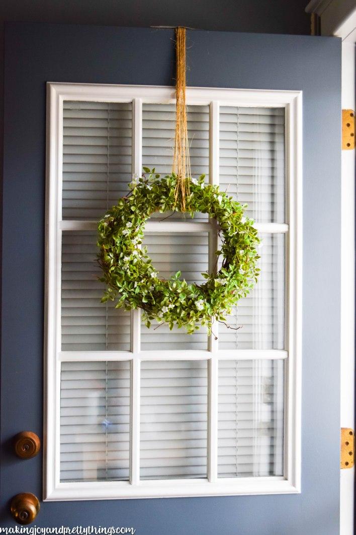 Simple farmhouse wreath for Simple farmhouse