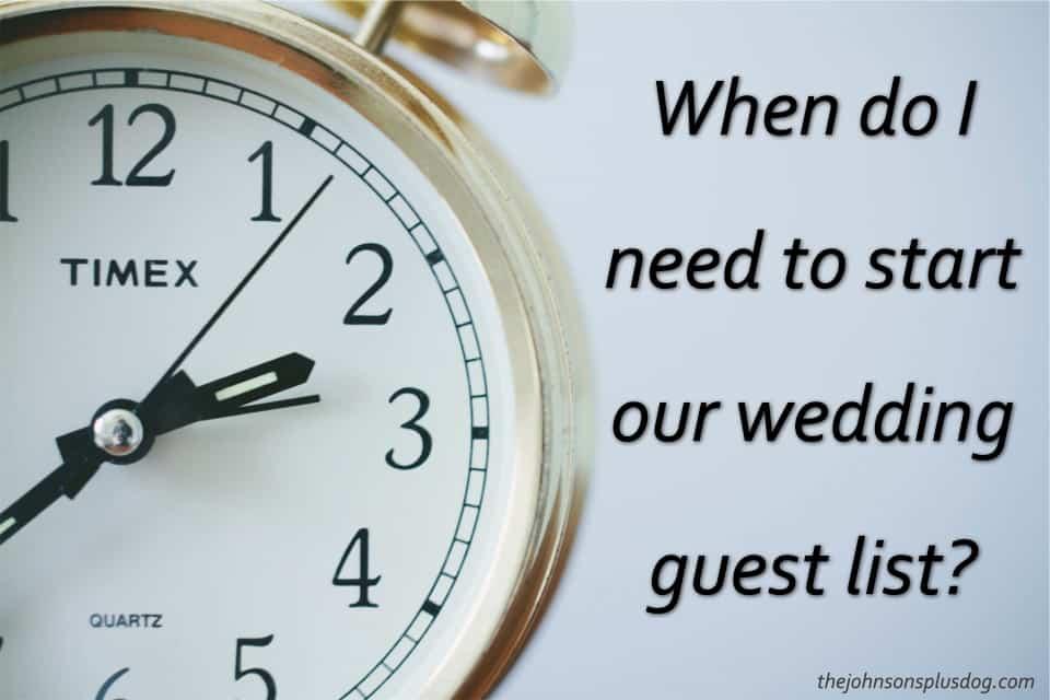 How to Start Your Wedding Guest List - Making Manzanita - wedding guest list
