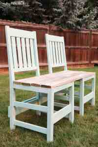 Colorful Upcycled Chair Bench For Your Backyard - Making ...