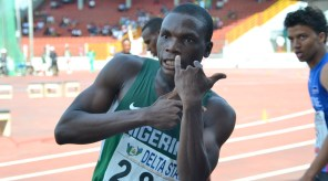 Oduduru Divine celebrates after winning gold