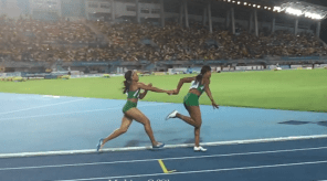 Asumnu hands to Okagbare in 4x1 World Relay 2015 Final