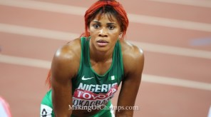 Okagbare finished 8th in the women's 100m final on Monday. (Photo Credit: Making of Champions/PaV Media)