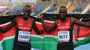 Team Kenya, Kipyegon Bett & Tarbei 800m Bydgoszcz 2016