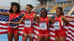 Team USA 4X400m Relay #Bydgoszcz2016