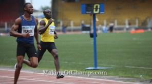 Seye Ogunlewe wins his 100m Semi at 2015 Nigerian Trials