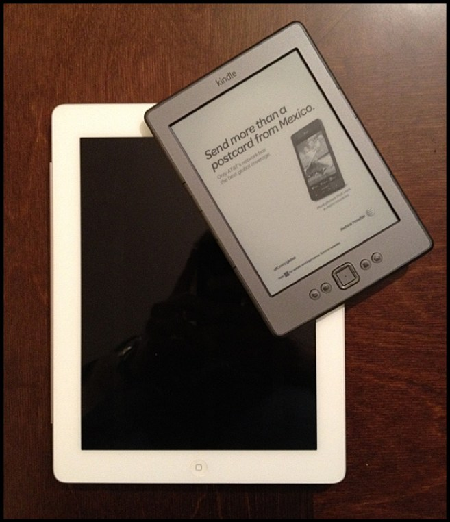 iPad 2 and Kindle 4