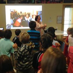 MCM children video class with a middle school in the USA