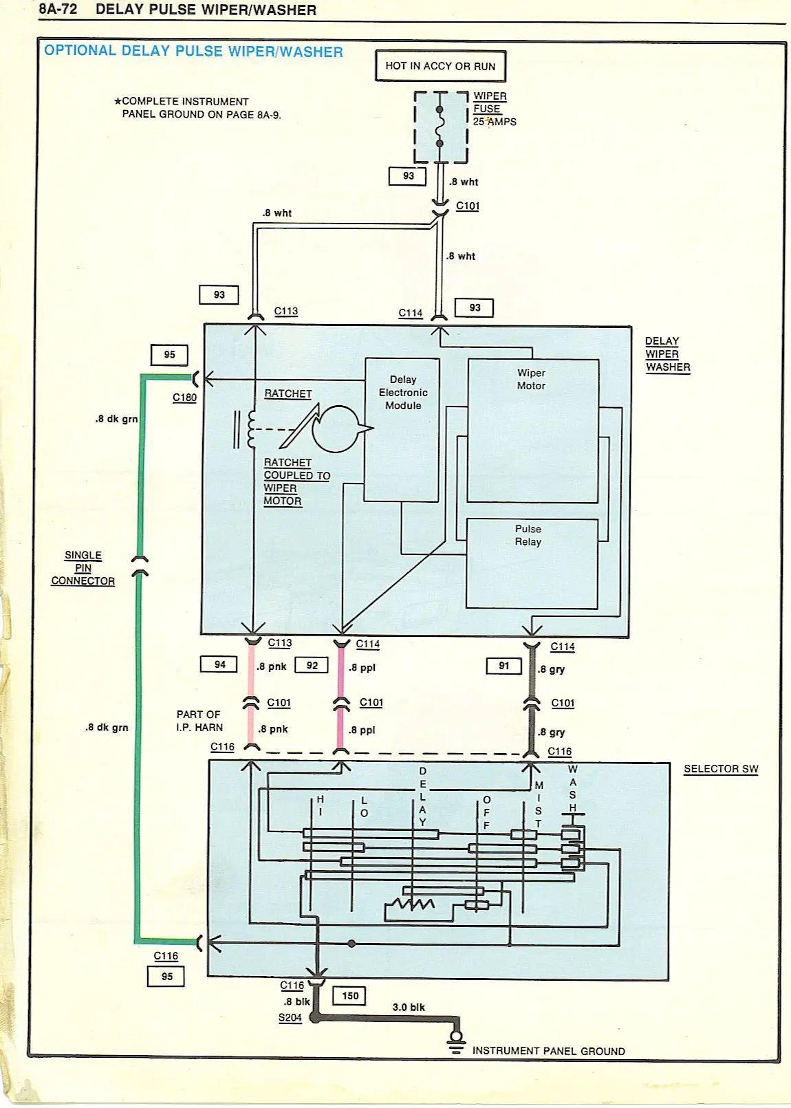 1980 camaro pulse wiper switch wiring diagram