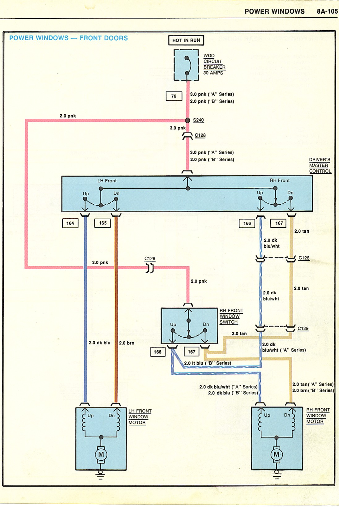 1988 chevy truck power window wiring