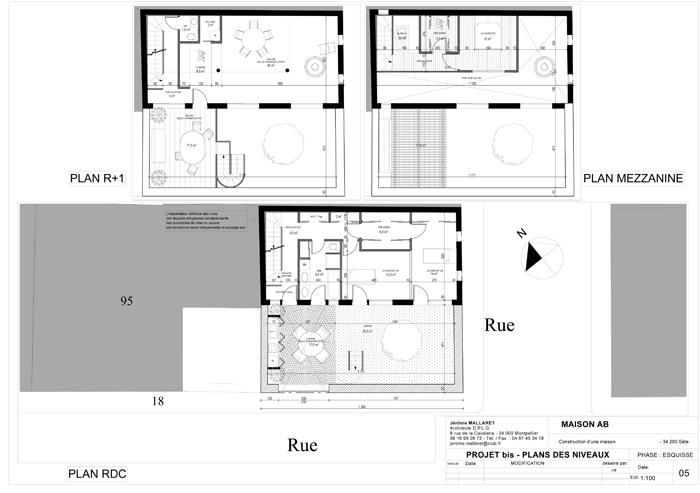 05-PROJET-bis-PLANS-DES-Njpg (700×493) Archi Pinterest - image de plan de maison
