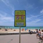 Schilder Playa de Palma Mallorca Verbote