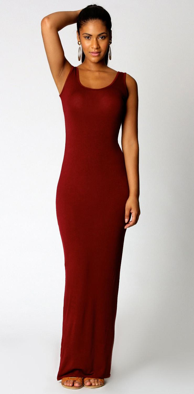 Sleeveless ankle length maxi dress n9021