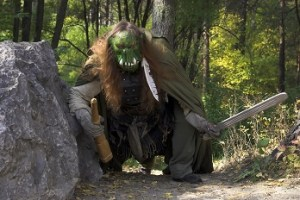 big green troll in the impassable forest