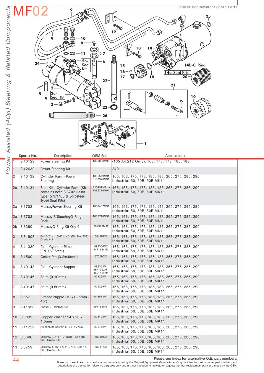 Mf 175 Wiring Diagram Auto Electrical Eb15d Coleman Evcon Massey Ferguson Front Axle Page 54