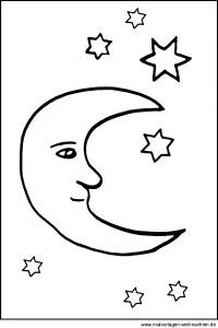 Ausmalbilder Sterne Und Mond Malvorlagen Fr Kinder