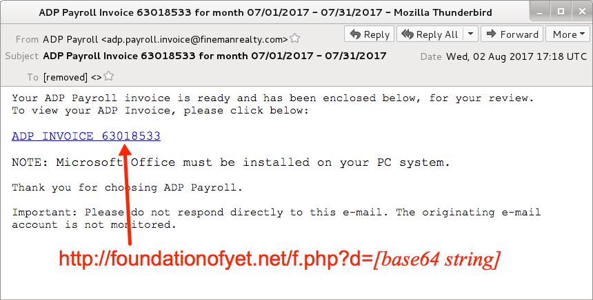 Malware-Traffic-Analysisnet - 2017-08-02 - Hancitor malspam (ADP