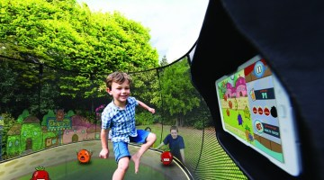 Go Outside and Play: New Outdoor Interactive Digital Gaming System Gets Families Active (Win a Springfree Trampoline with tgoma)