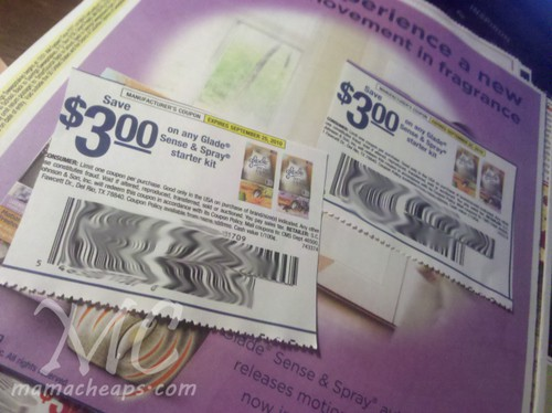 glade sense and spray coupons