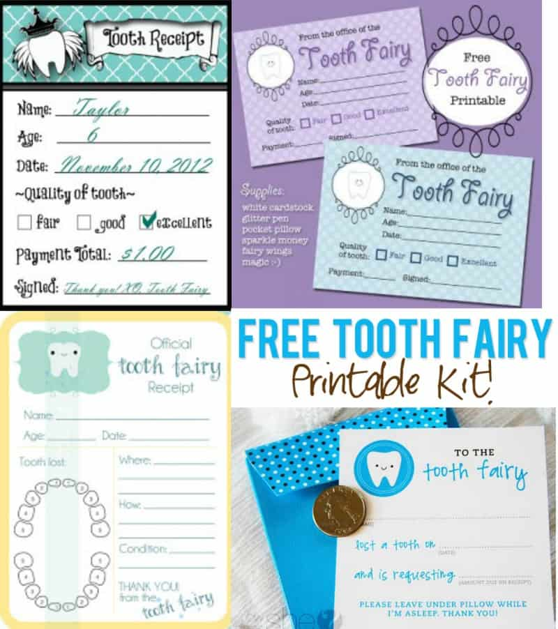 FREE Printable Tooth Fairy Receipts - Several to Choose From Mama
