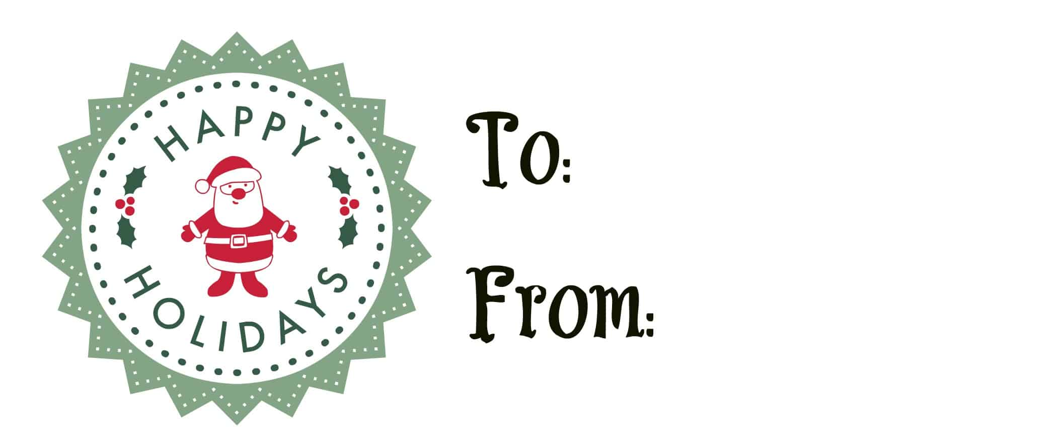 Free Printable Holiday Gift Tags Great For Magazines
