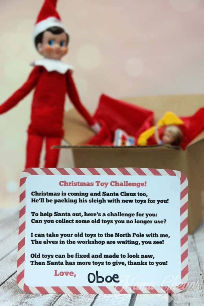 Christmas Toy Challenge from Your Elf + FREE Printable Poem Mama