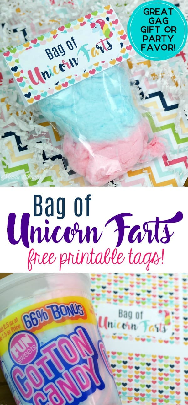 Bag of Unicorn Farts Funny Gift Idea with Printable Tags Mama Cheaps