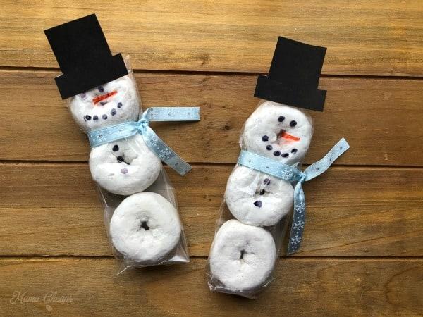 Easy Donut Snowman Snacks + Printable Hats Mama Cheaps