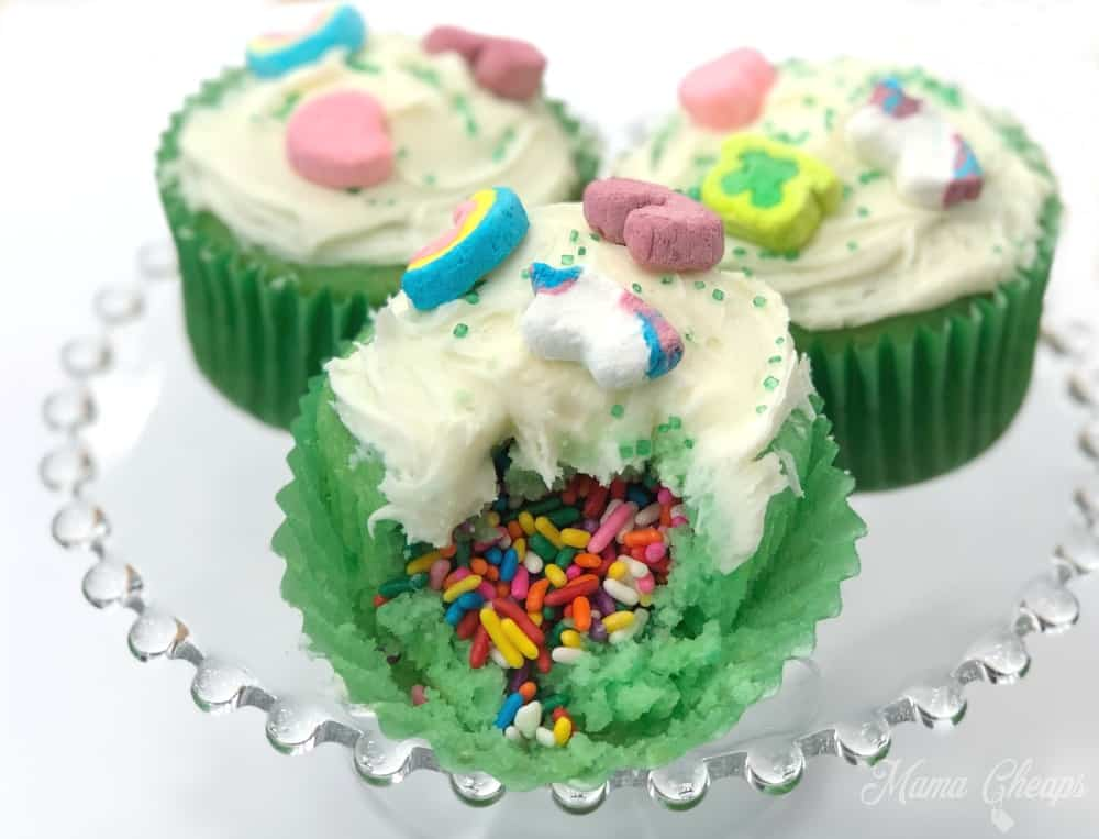 Lucky Charms Rainbow Surprise Cupcakes Mama Cheaps