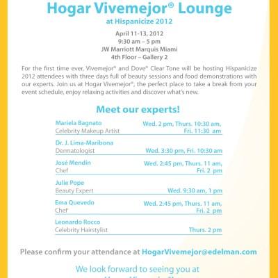 Hogar Vivemejor® Lounge en Hispanicize 2012. #Hogarvivemejor