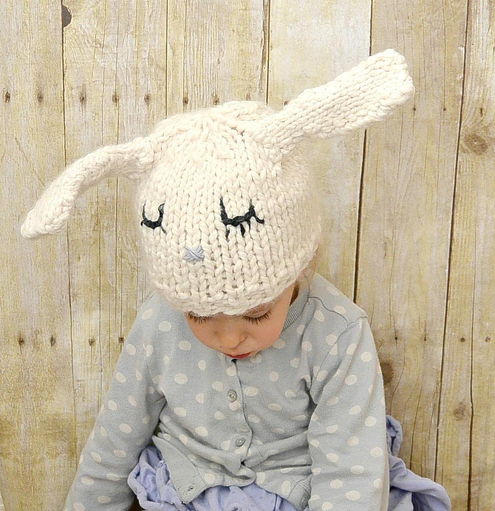 Knitting Pattern Rabbit Hat : Knit Hats