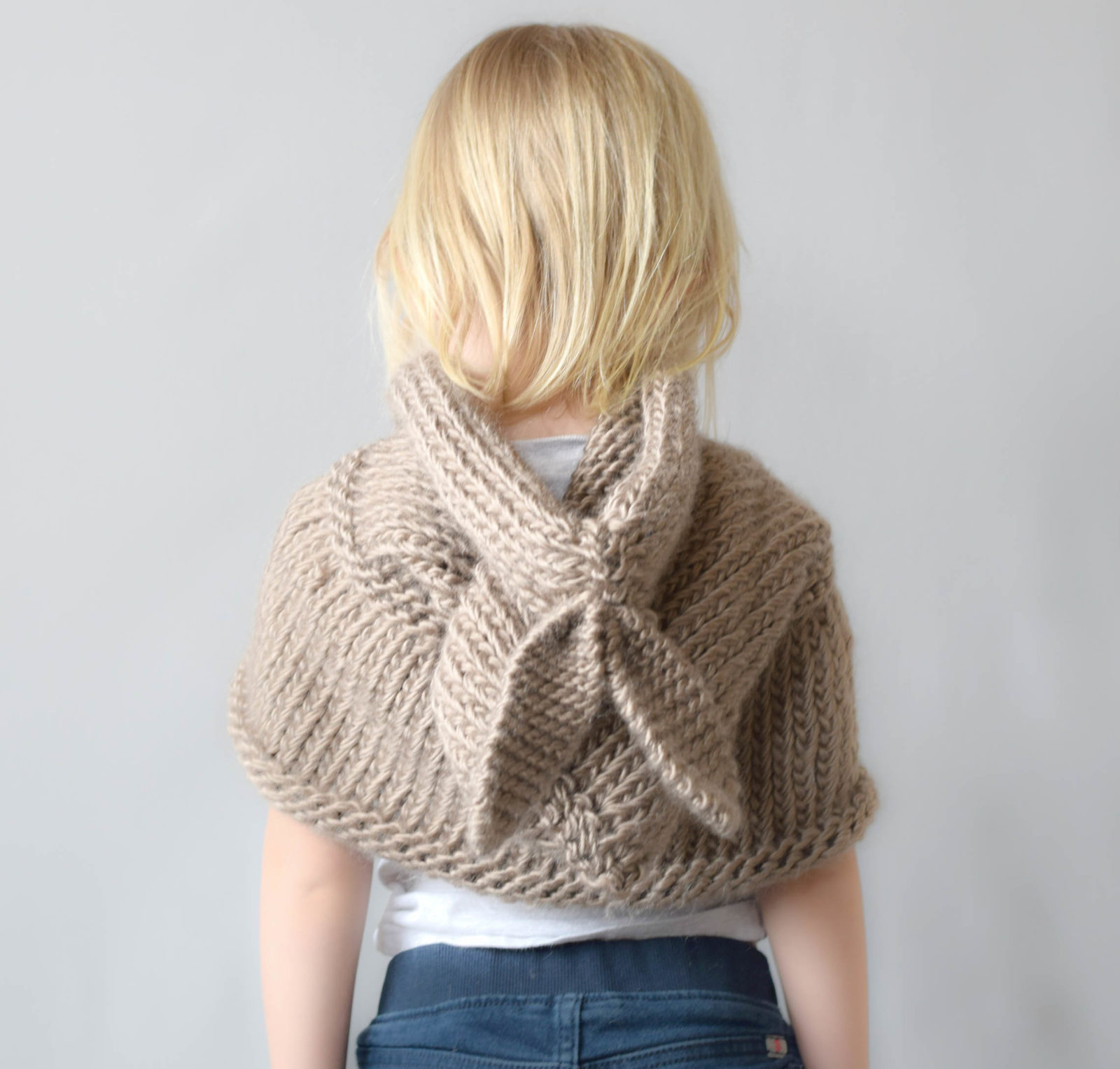 Knitting Pattern Hooded Shawl : Knitting