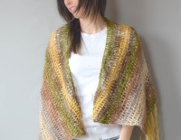 "One Skein Crochet ""Boho Shawl"" Pattern  Mama In A Stitch"