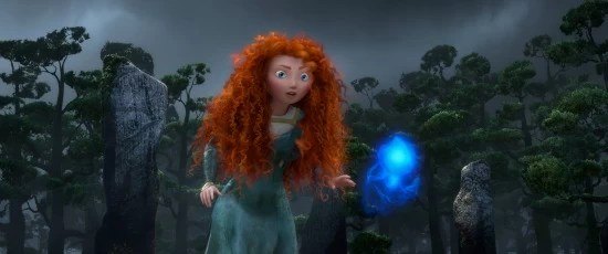 """BRAVE""   Merida following a Wisp. ©2011 Disney/Pixar. All Rights Reserved."