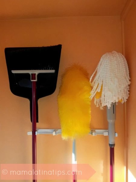 Broom and Mop Hanger
